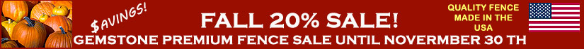 Aluminum Fence Fall Sale