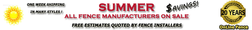Summer Aluminum Fence Sale