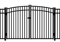 Jerith Aluminum Gate Rainbow 202 Modified