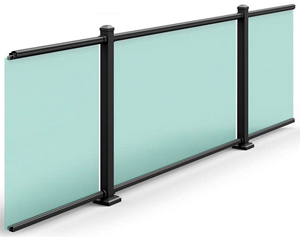 Ultra Aluminum Glass Railing