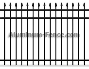 Spear Point Aluminum Fence